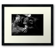 Sad hug Framed Print