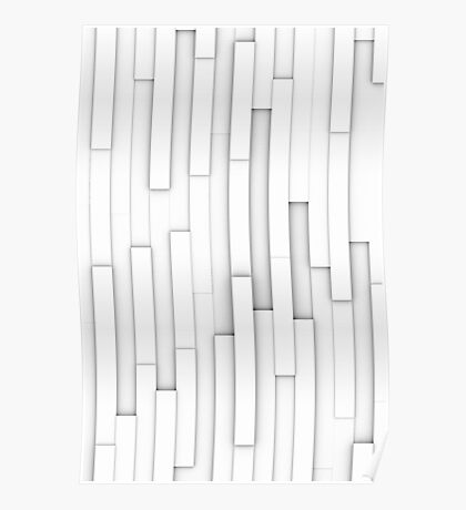 White blocks abstract Poster