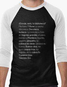 ¿ Donde Está La Biblioteca  ? Men's Baseball ¾ T-Shirt