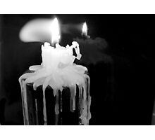 Candle Flame close up Photographic Print