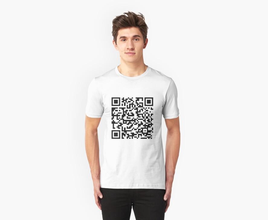 Rick Roll QR t-shirt by albertot
