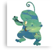 Politoed used mud shot Canvas Print