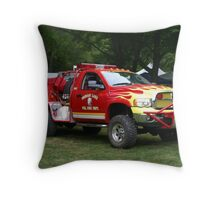 lil red fire truck Throw Pillow