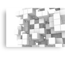 White cube structure Canvas Print