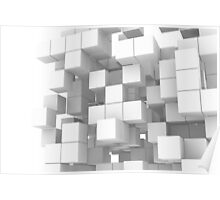 White cube structure Poster