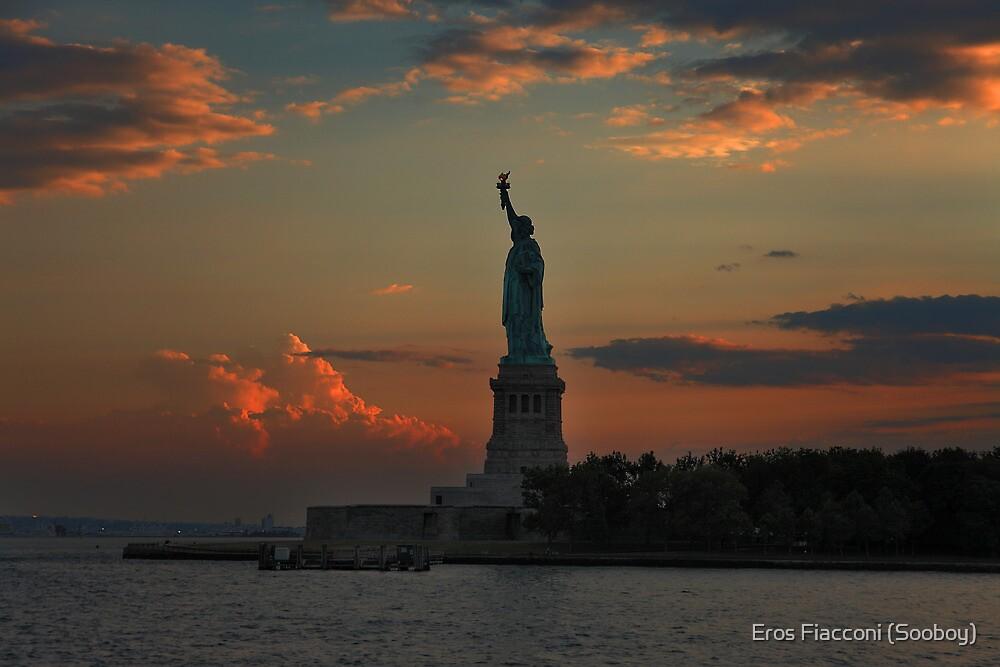 Lady Liberty at twilight New York by Eros Fiacconi (Sooboy)