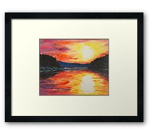 Sunset Reflections at the Lake Framed Print