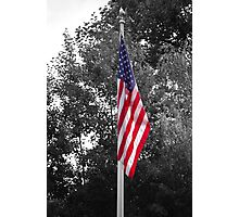 Color Flag in a Black and white world Photographic Print