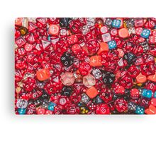 All the red dice Canvas Print