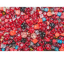 All the red dice Photographic Print