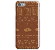 Ornamental earth colored ethnic pattern iPhone Case/Skin