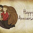 Happy Anniversary Card by Ine Spee