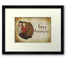Happy Anniversary Card Framed Print