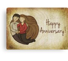 Happy Anniversary Card Canvas Print