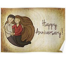 Happy Anniversary Card Poster
