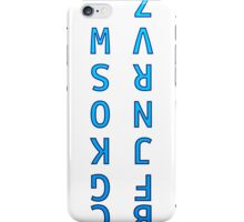 Upside Down Alphabet iPhone Case/Skin