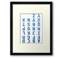 Upside Down Alphabet Framed Print