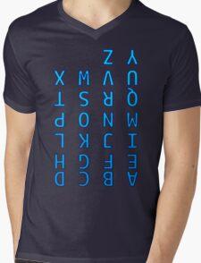 Upside Down Alphabet Mens V-Neck T-Shirt