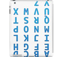 Upside Down Alphabet iPad Case/Skin