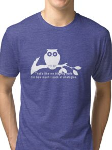 Britta 'Owls' - Community Season 5  Tri-blend T-Shirt