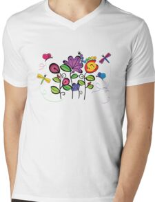 bugs in the meadow Mens V-Neck T-Shirt