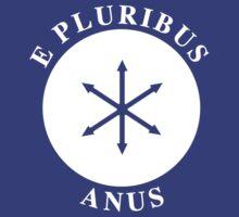 E PLURIBUS ANUS - Greendale Flag by albertot