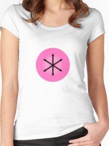 E PLURIBUS ANUS - Greendale Logo Women's Fitted Scoop T-Shirt