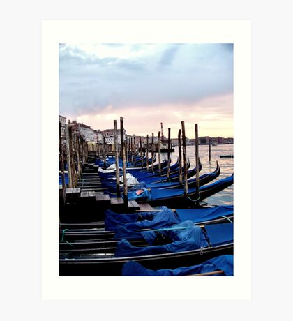 Venice - Waiting for the Day to Start Art Print
