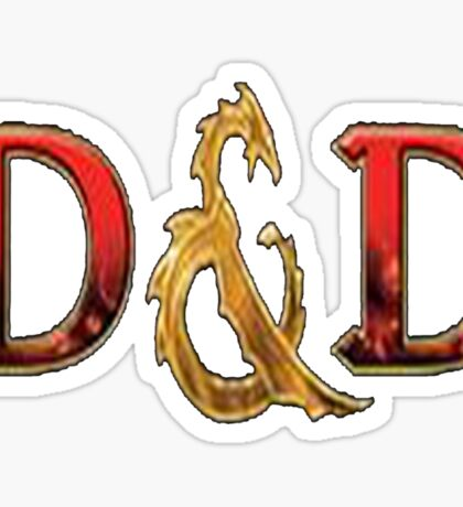 dungeons and dragons Sticker