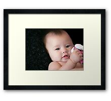 Me & my baby doll Framed Print