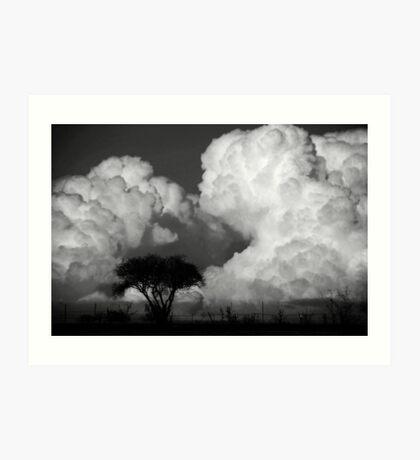 building a cloud Art Print