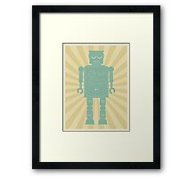 Retro vintage toy robot  Framed Print
