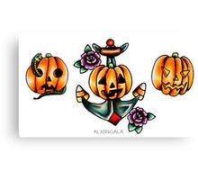 Halloween Flash 2 | Pumpkins Canvas Print