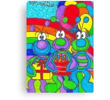Three Wise Bugs Canvas Print