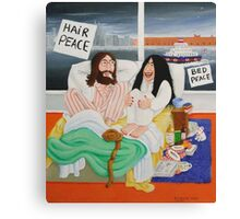 Tracy Emin's bed peace. Canvas Print