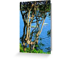 Boats On The Bay By Jonathan Green Greeting Card