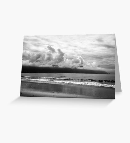 MONOCHROME COAST Greeting Card