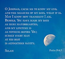 Psalm 39:4-5 by Robin Clifton