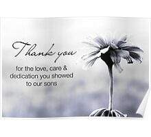 NICU Nurse Day (for care of sons) Poster