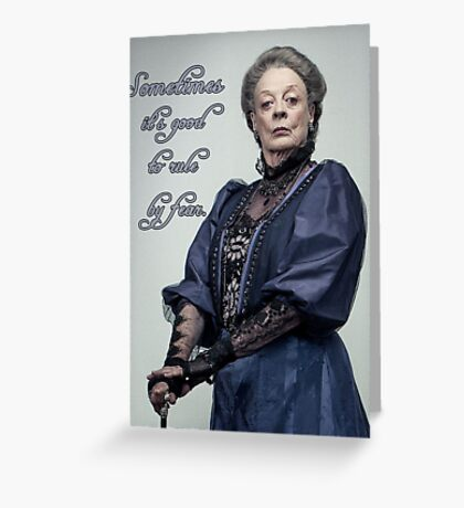 Lady Violet Quotes Greeting Card