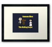 Peanuts Meet Star Wars Framed Print