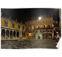 Piazza dei Signori at night Poster