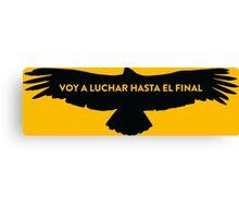 Nairo Quintana : Fight TDF2015 Black Logo Canvas Print