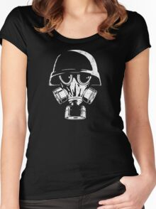 Army gas mask Women's Fitted Scoop T-Shirt