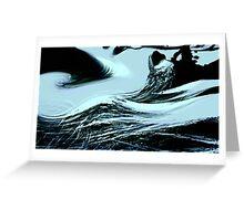 deadliest of waves.... rock point under sakura, nature's hand Greeting Card