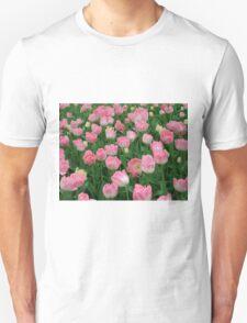 Pink Tulips Unisex T-Shirt