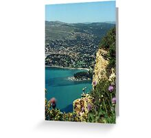 Clifftop view of Cassis, France Greeting Card
