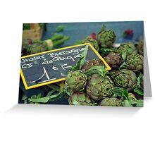 Market fresh artichokes - Nice, France Greeting Card