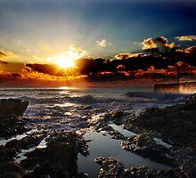 Pothleven Harbour Sunset by Jack  Williams