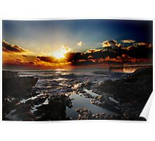 Pothleven Harbour Sunset Poster